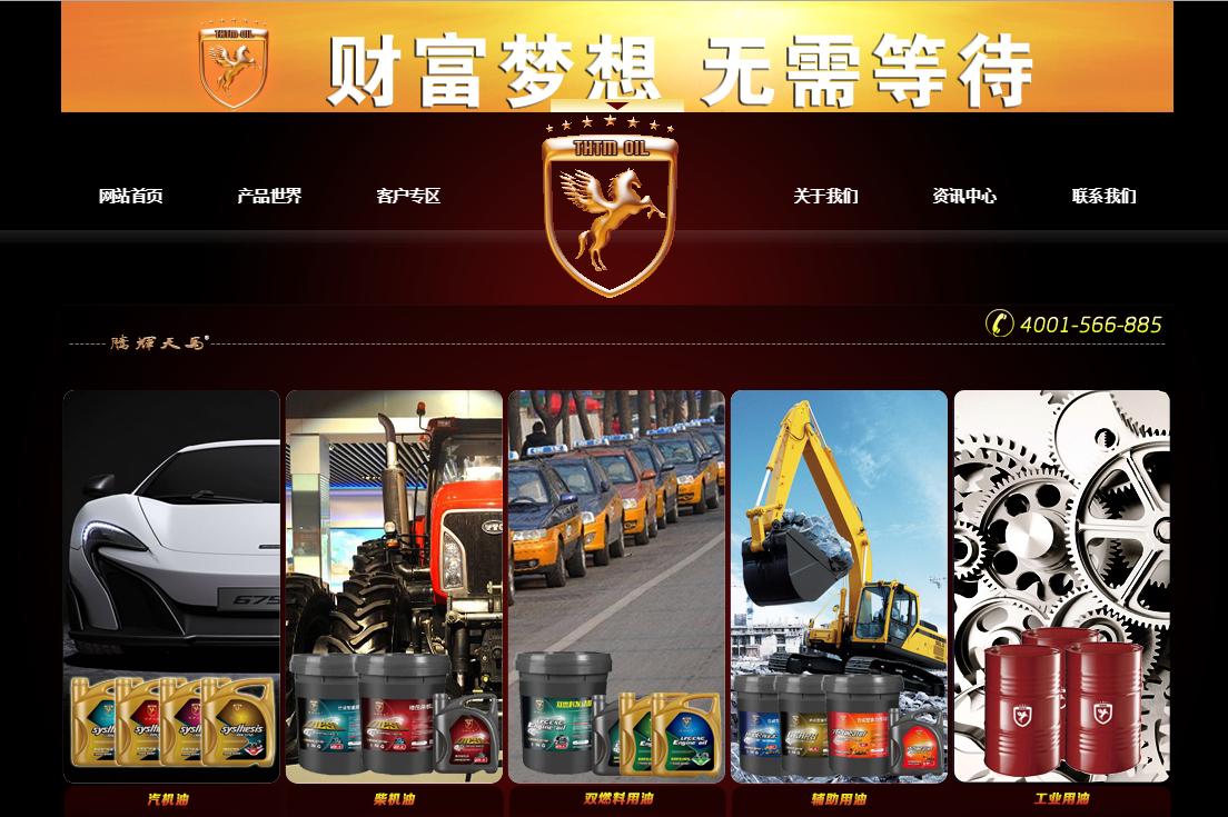 腾辉天马企业网站建设项目